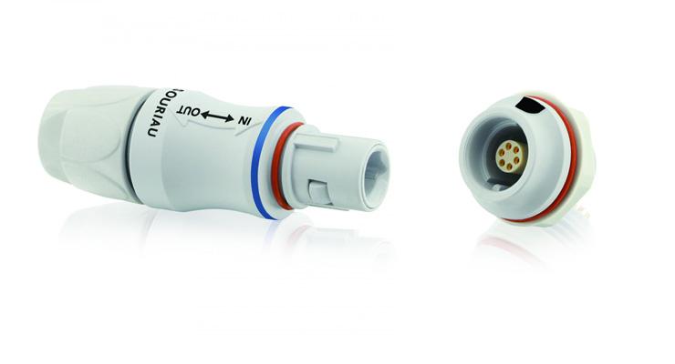 Conectores Push-Pull Souriau-Metal y Plástico